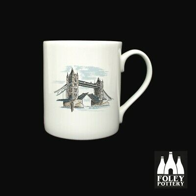GB: Tower Bridge, London, Thames, Inspired Bone China Mug By Foley Pottery  • 16.95£