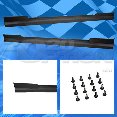 $884.99 • Buy Type-sport Polyurethane Add-on Lip Side Skirts For 05-09 Ford Mustang V6 V8