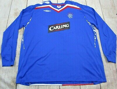 b3c79e18f5a NICE Glasgow Rangers FC Soccer Jersey Long Sleeve Blue Red Men s 4XL  Carling • 39.99