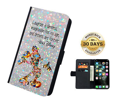 AU16.99 • Buy Disney Mickey Castle Quote Faux Leather Flip Case Cover Wallet