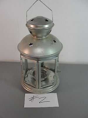 $8.94 • Buy 🏮 Ikea Rotera Hanging Tealight Candle Holder Silver Lantern Metal Star Glass