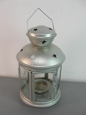 $10.93 • Buy 🏮 Ikea Rotera Hanging Tealight Candle Holder Silver Lantern Metal Star Glass
