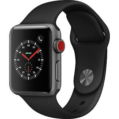 $ CDN287.76 • Buy Apple Watch Series 3 38mm GPS And Cellular Space Gray Case Black Band MTGH2LL/A