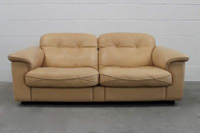 """Stunning Immaculate De Sede """"DS-101"""" 2.5-Seat Sofa In Neck Leather – 2 Available • 2,400£"""