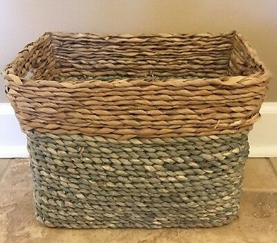 $19.99 • Buy NEW Pottery Barn Teen Color Block Braided Bin MEDIUM