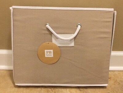 $39.99 • Buy NEW Pottery Barn Teen LARGE Canvas Bin Under Bed KHAKI