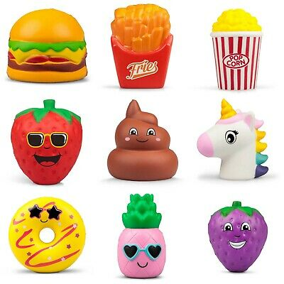 AU12.58 • Buy Squishy Puffems Stress Ball Squeezy Crazy Characters Sweet Treats Fast Food Gift