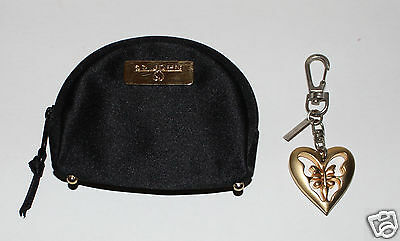 $80 • Buy St. John Coin Purse And Butterfly Heart Keychain FOB Set