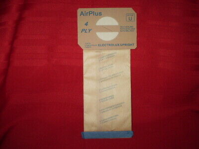 $0.99 • Buy Electrolux Upright Vacuum Bags AirPlus 4 Ply Style U 138FPC (low Shipping On 2+)
