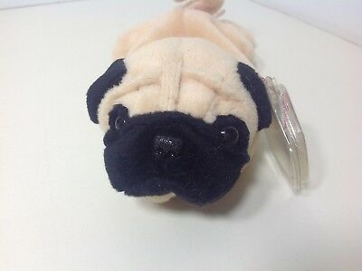 c9d2e220119 Retired Ty Beanie Baby MWMT PUGSLY Pug Dog Puppy PVC Pellets • 100.00