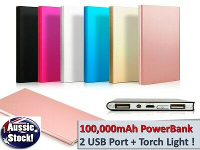 AU24.98 • Buy 100000mAh External Powerbank Dual USB Portable Battery Charger For All Phone