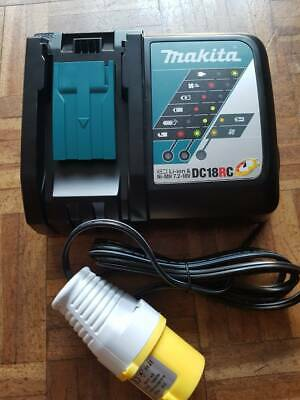 Makita DC18RC 18v Dual Rapid Fastest LXT Battery Charger 110v 2018 Latest Model • 39.89£