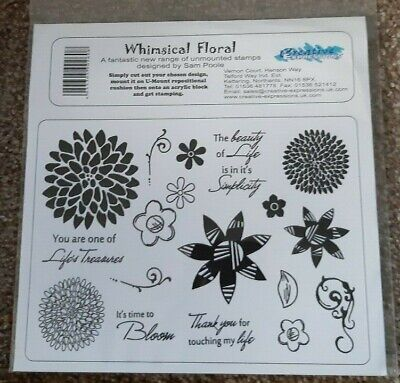 £10.25 • Buy CREATIVE EXPRESSIONS U Mount Stamps WHIMISICAL FLORAL Life's Treasures Beauty