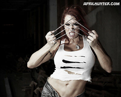 $ CDN25.18 • Buy April Hunters Tribute To Marvels Weapon X-23 8X10 Signed & Personalized