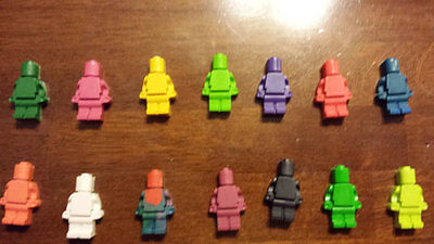$16 • Buy 100 Lego Theme Crayons, Lego Minifig Party Favors Robot Crayons. 4 Per Pack, 25