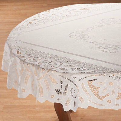60 Round Lace Tablecloth