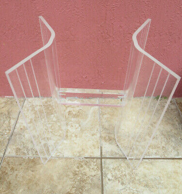 $150 • Buy Mid Century Modern Lucite Butterfly End Side Table Base Only