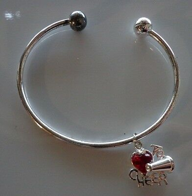 £21.81 • Buy .925 Sterling Silver   To Cheer Heart  Charm And Braclet Both Marked
