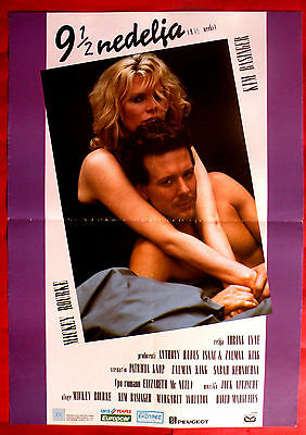 £29.31 • Buy 9 1/2 Nine And A Half Weeks '86 Sexy Kim Basinger Mickey Rourk Exyu Movie Poster