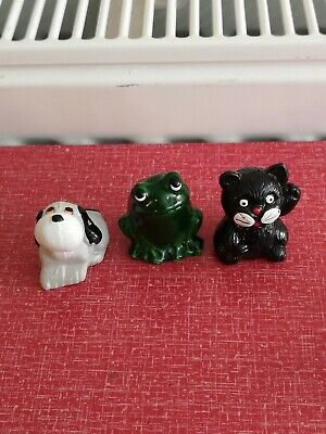 Vintage Plastic Pencil Topper Set Frogs,Dogs,Cats Retro 1980's Toy Frog,Dog,Cat  • 5£
