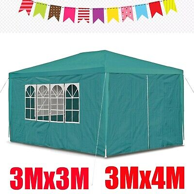 Gazebo 3x3 3x4 Fully Waterproof Awning Pation Pavilion With Sides Camping Party • 66.09£