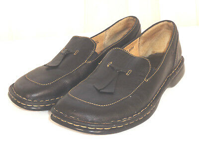 aa390521eb98 BORN Loafers Black Leather Tassel Flats Size 6 • 17.49