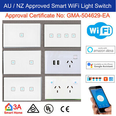 AU30 • Buy AU Approved Smart WiFi Light Switch Dimmer GPO Fan Switch For Google Home Alexa