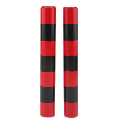 1 Pair Wooden Rhythm Sticks Musical Instruments Percussion Toys Red & Black • 5.65£