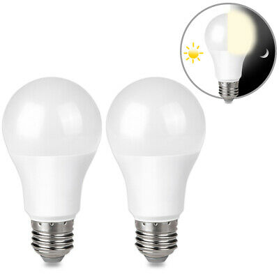 $9.99 • Buy 2 9W E26 LED Dusk To Dawn Light Bulbs Auto On Off For Outside, Home, Lamp