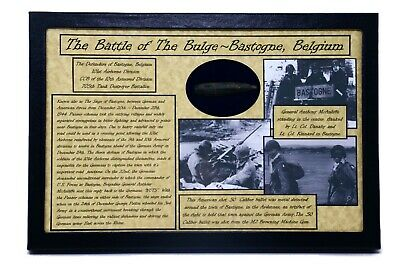 £36.57 • Buy WW2 Dug Shot Bullet American .50 Caliber From The Battle Of The Bulge With Case