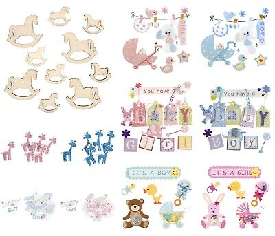 £3.29 • Buy Baby Themed Card Toppers Scrapbooking Embellishments - Craft For Occasions