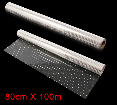 20M X 80cm Cellophane Roll Film White Dot Clear Florist Hamper Gift Wrap Craft • 11.99£