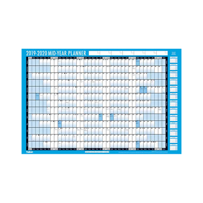 A2 2019-2020 Academic Mid Year Student Wall Planner Calendar Pen & Adhesive Dots • 4.89£