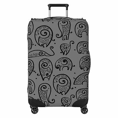 Tribal Animal Pattern SUITCASE COVER Protector Skin Grey • 18.99£