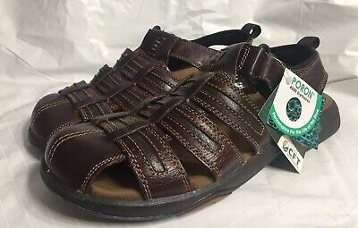 34f6a61d787 Thom McAn Brown Leather Fisherman Sandals Men s Size 11 NWT • 38.24