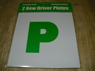 Magnetic New Driver P Plates Pack Of 2 BNIB. • 1.99£