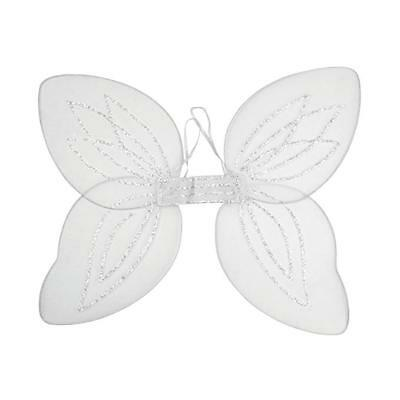 £3.50 • Buy Large White Adult Fairy Pixie Wings With Silver GlitterFancy Dress Up