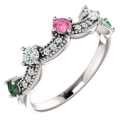 $100 • Buy Crown Accented Ring 5 Stones Sterling Silver, Mother's Day Ring Jewelry