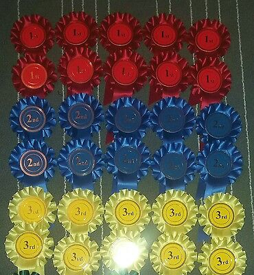 £25.55 • Buy  1st 2nd 3rd X10 30 Rosettes Dog Show Horse Event