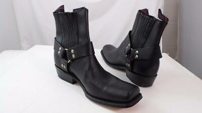 $187.78 • Buy Vintage Nos Nana Black Leather Harness Motorcycle Engineer Square Toe Boots 11 M
