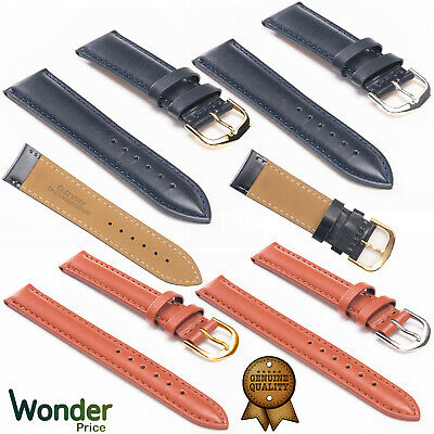 £1.99 • Buy Mens Genuine Leather Watch Band Replacement Strap Size 8/10/12/14/16/18/20/22mm