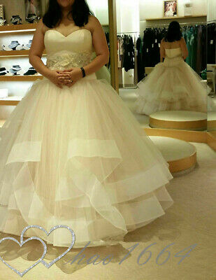 $ CDN133.06 • Buy Plus Wedding Dresses Princess Tulle Ruffles Sweetheart Bridal Gowns Custom Made