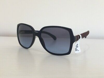 bf0f781a915da 1 CHANEL 5289-Q C.1021 S2 Square BlueBrown Leather Gradient Sunglasses 57