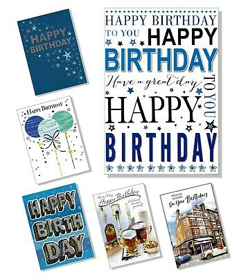 *NEW DESIGNS ADDED* Happy Birthday Card - Various Multi Choice Listing Male Men • 1.99£