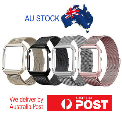 AU16.95 • Buy Milanese Loop Stainless Steel Band W/ Frame For Apple Watch 38mm 40mm 42mm 44mm