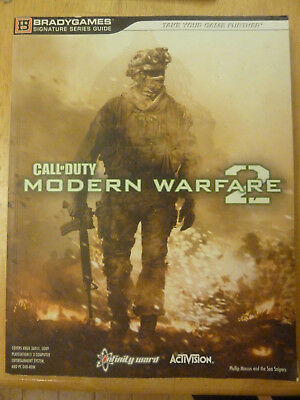 Call Of Duty Modern Warfare 2 Game Strategy Book - Bradygames PS3 XBOX 360 PC • 5.99£