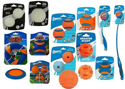 £9.99 • Buy Chuckit! Dog Puppy Rubber Squeaky Ball Toys Ring Fetch Glow Balls Launcher
