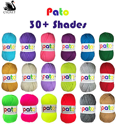 Cygnet Pato DK Knitting Wool / Yarn Double Knitting Knit 100g Ball - 34 Shades • 1.39£