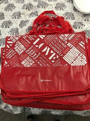 $ CDN12.13 • Buy NEW Lululemon 20y Manifesto Reusable Tote Bag Eco RED Extra Large Gym Shopping