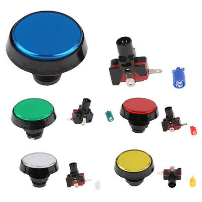 60mm Illuminated Round Push Button Switch LED Light Lamp For Arcade Game • 3.65£